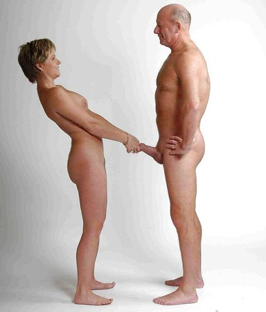 couples standing naked together