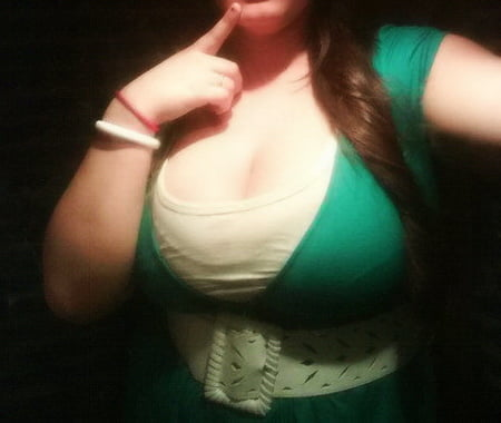 my monster tits in a green white dress