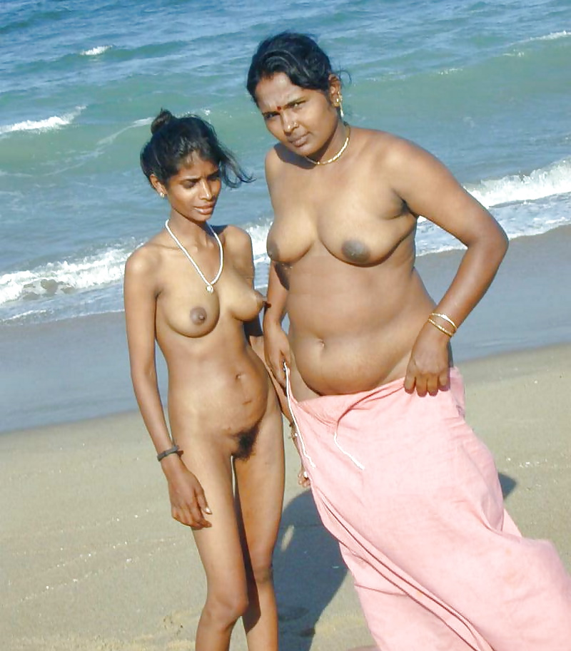 Desi family on nude beach — img 3