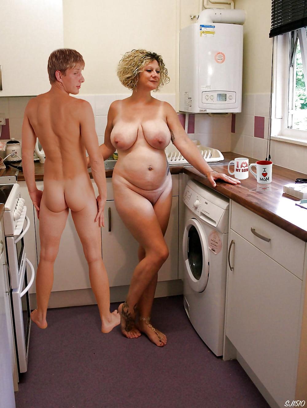 Pics caught nude mom