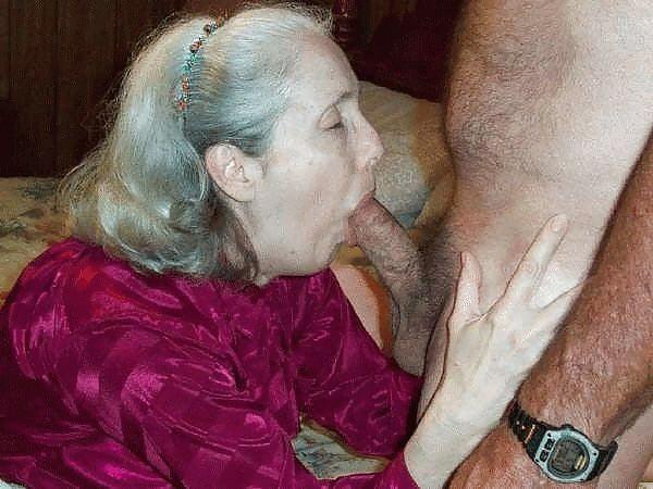 Very old grannies sucking dick