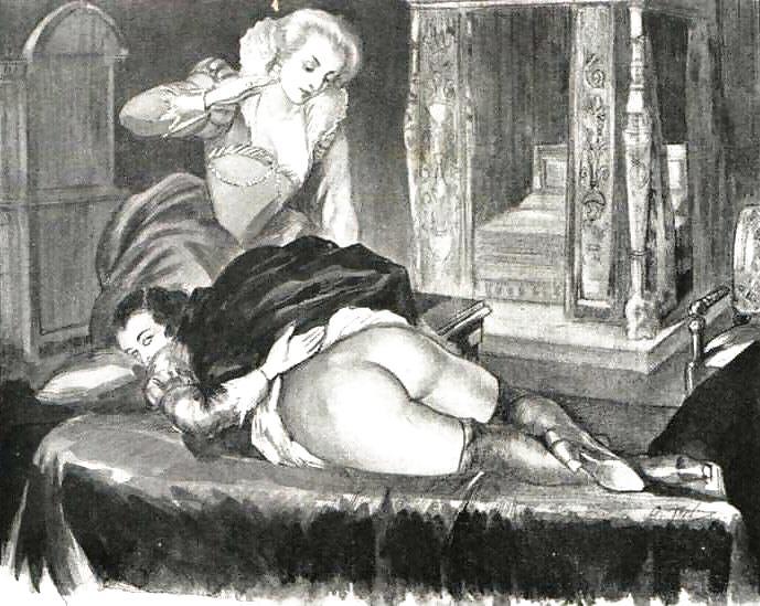 женщина под розгой ретро рисунки возможность заняться сексом