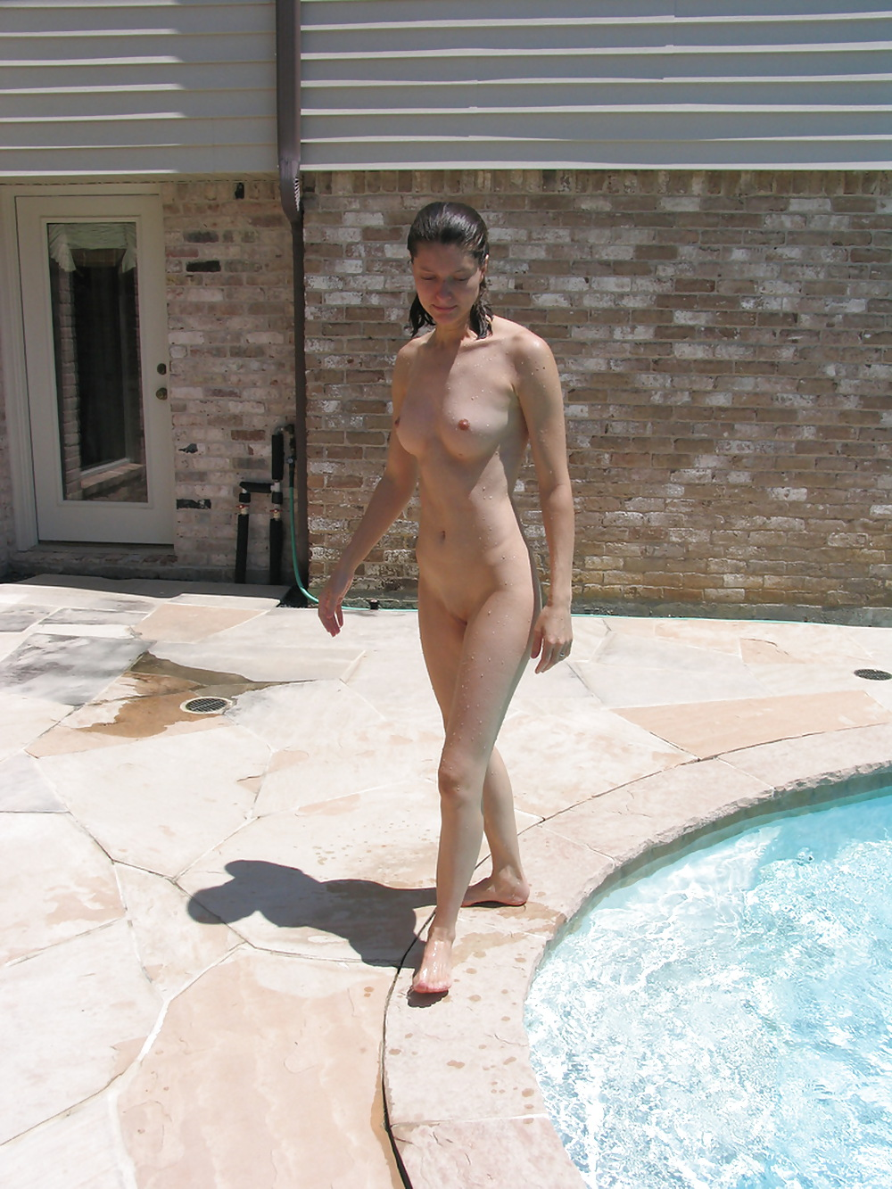 Backyard nudist