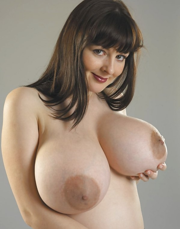Lorna Morgan Caresses Her Large Nippled Boobies