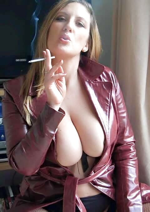 Busty bitch smoking #6