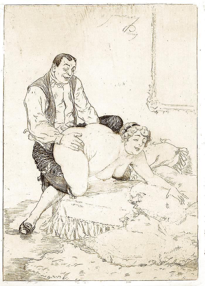 Старые порнографические рисунки 3
