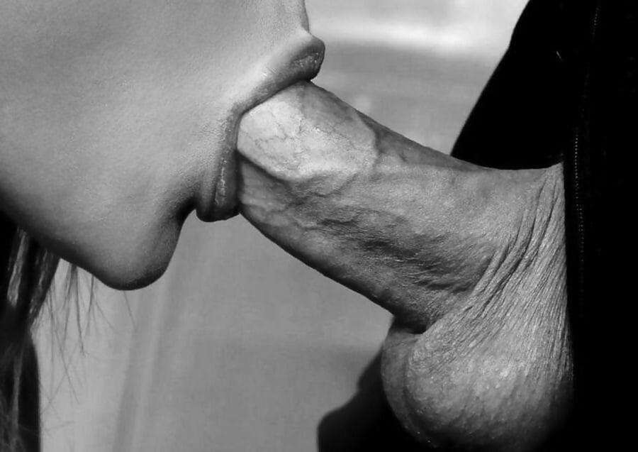 черно белые картинки минет эротика
