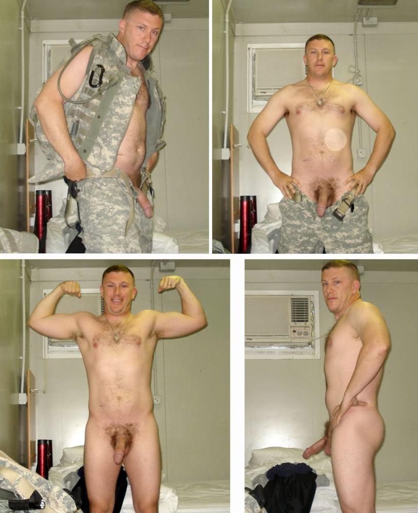 Military men naked