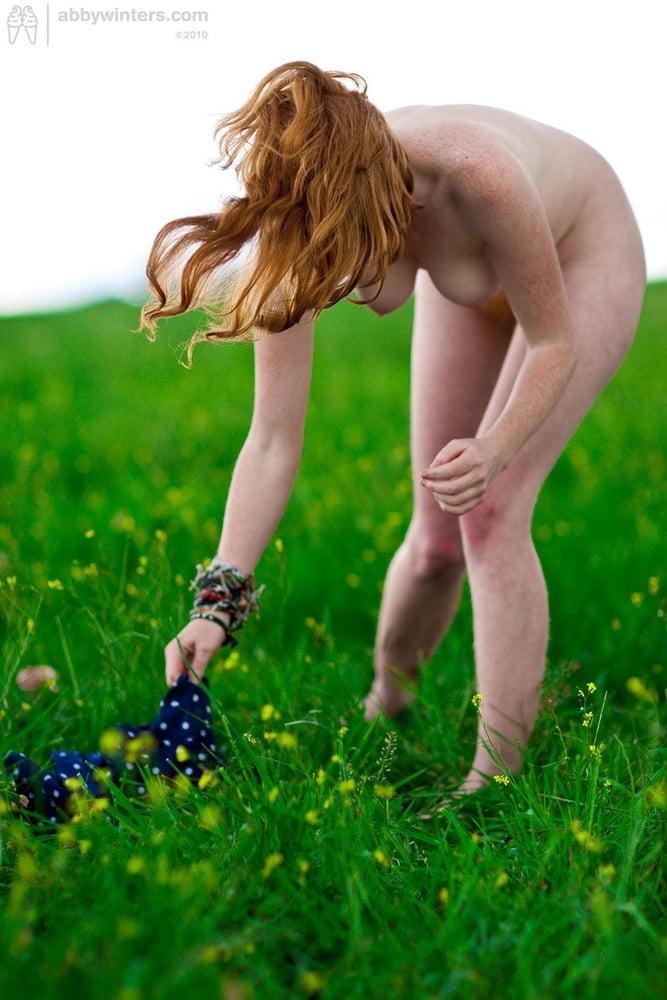 White skinned all natural redhead - 24 Pics