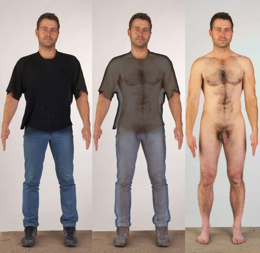Mens naked man fancy dress costume