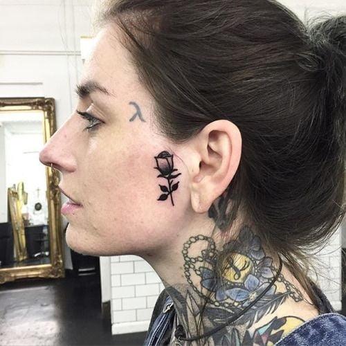 Face tattoo women. - 295 Pics