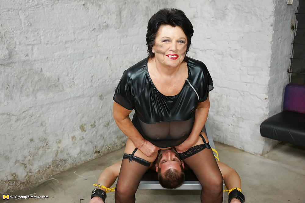 Granny mistress bondaged guy
