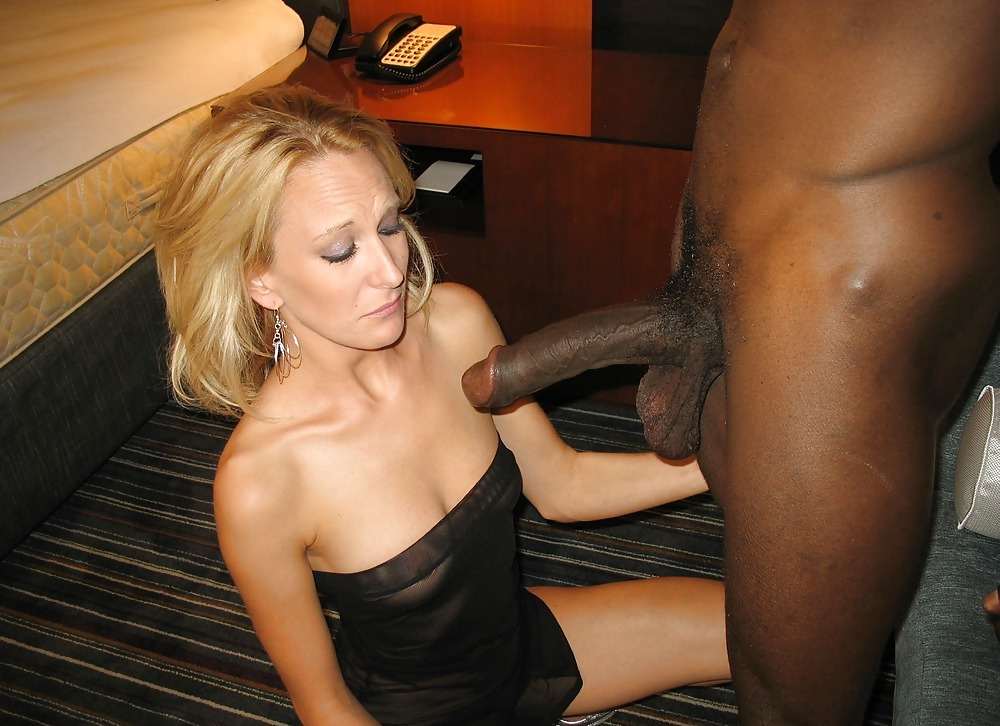 Blonde wife black cock captions — img 12