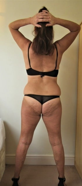 Matures in bra and panty or lingerie front back - 50 Pics