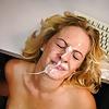 amatuer female enjoying the facial