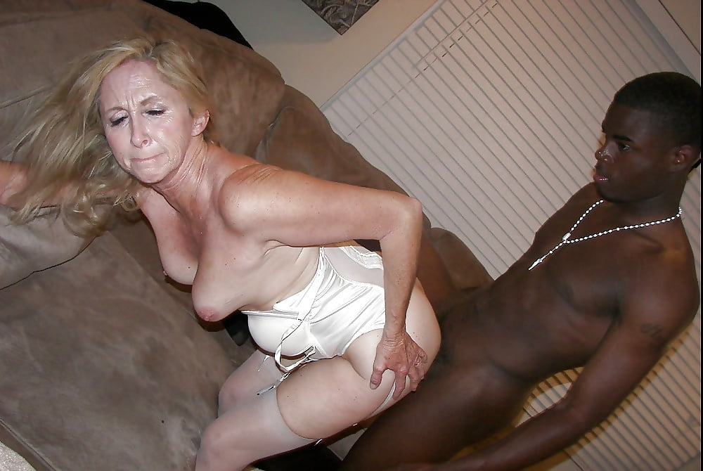 Granny loves sucking a big black dick