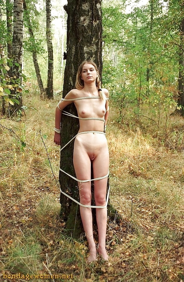 Milf gigi's bondage fantasies jogger caught in the woods used for bait