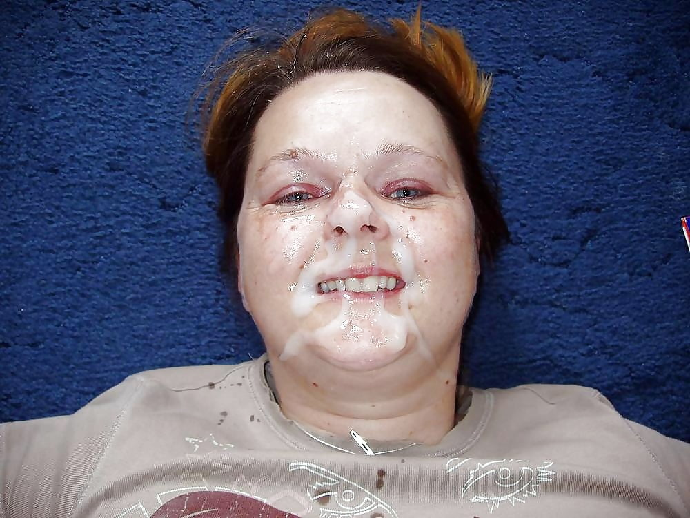 Ugly women face close up photo to cum on