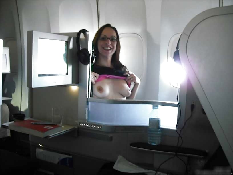 Airplane topless scene