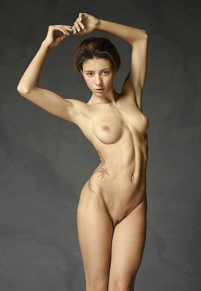 Flat nude body naked gal