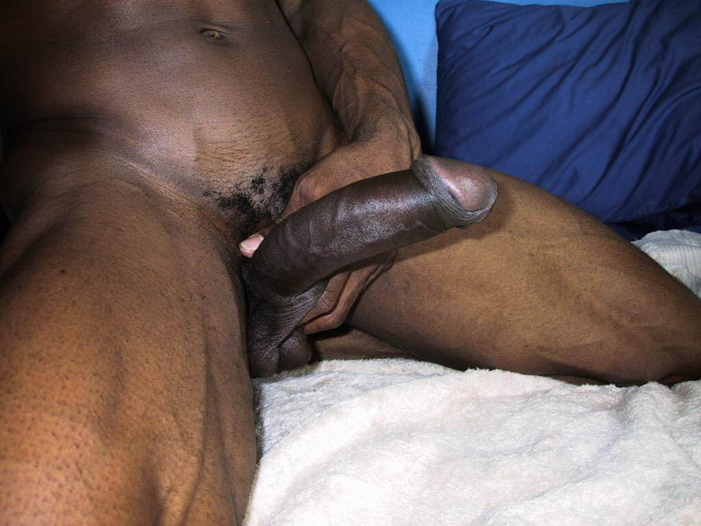 Jerking off my big black dick