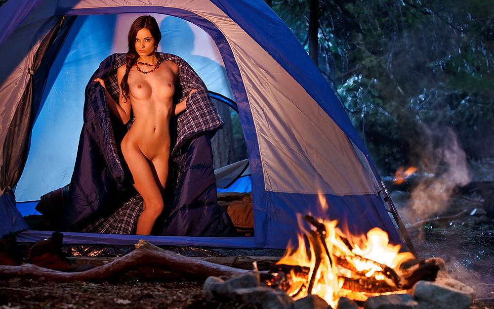 Black women camping naked