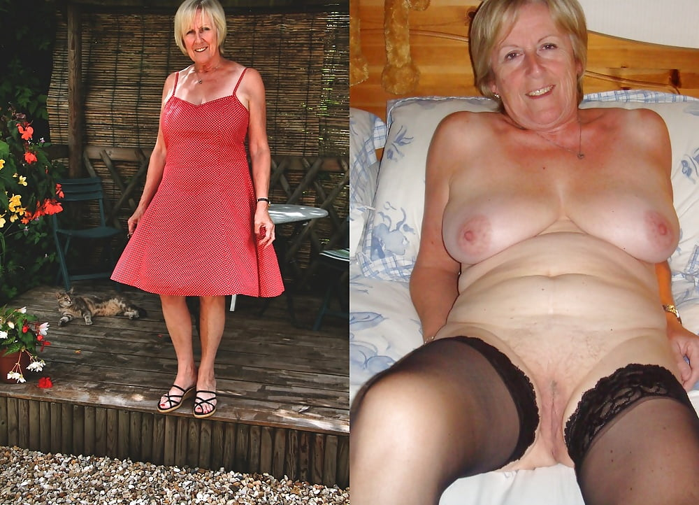 Boy grannies undressing naked heels