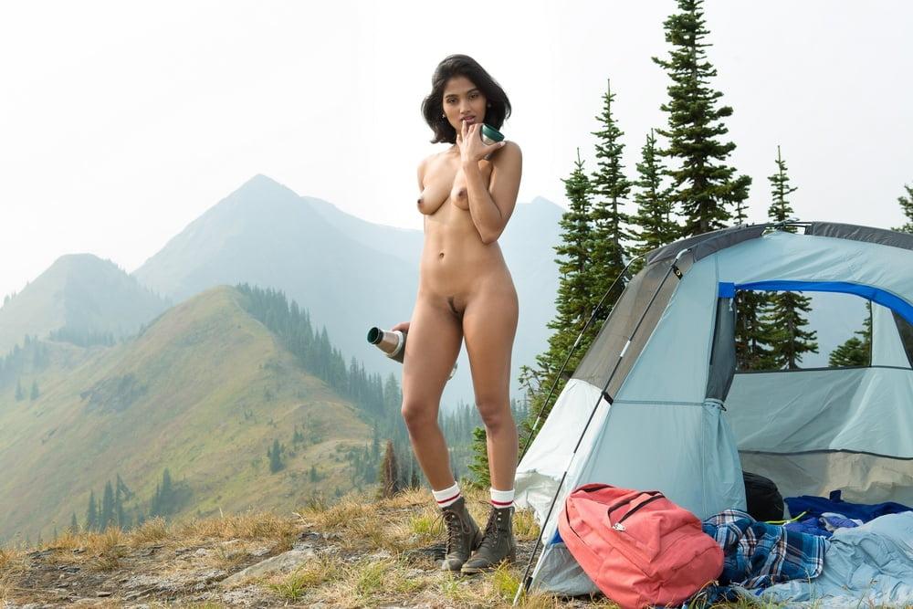 Girls camping nude — photo 11