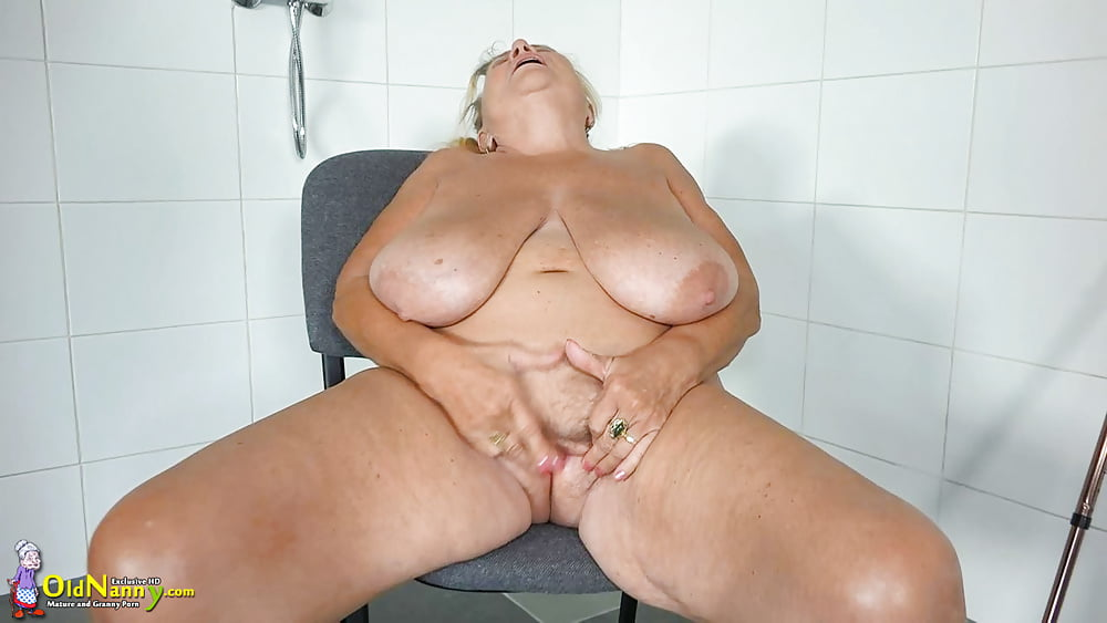 German Granny with Huge tits Swallows