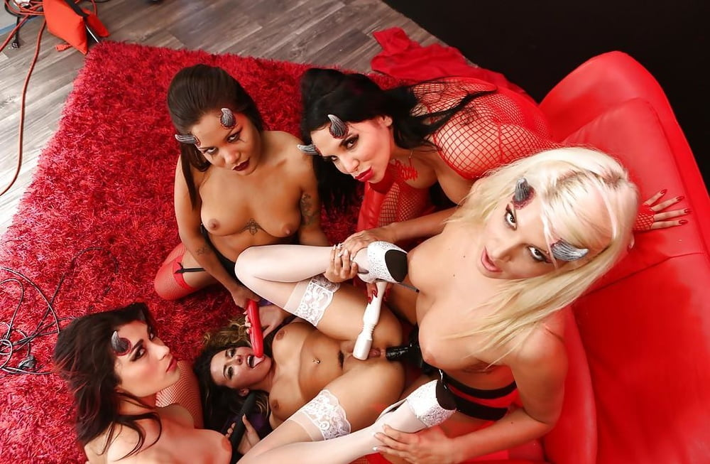 Insane lesbian toy orgy