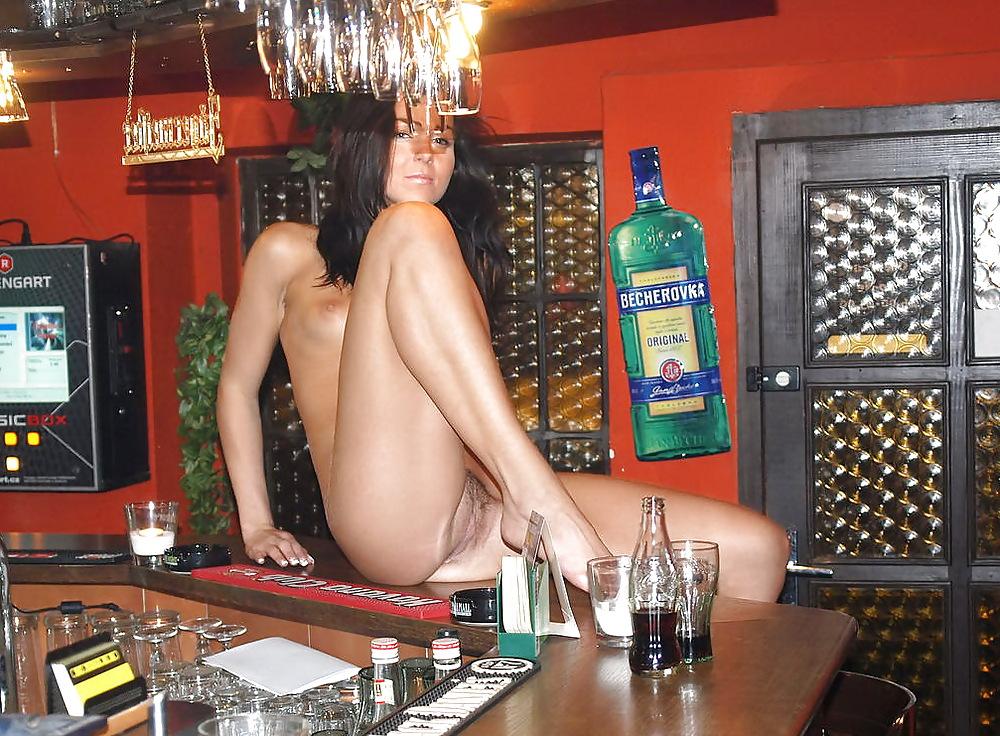 Homemade nude bartender — 2