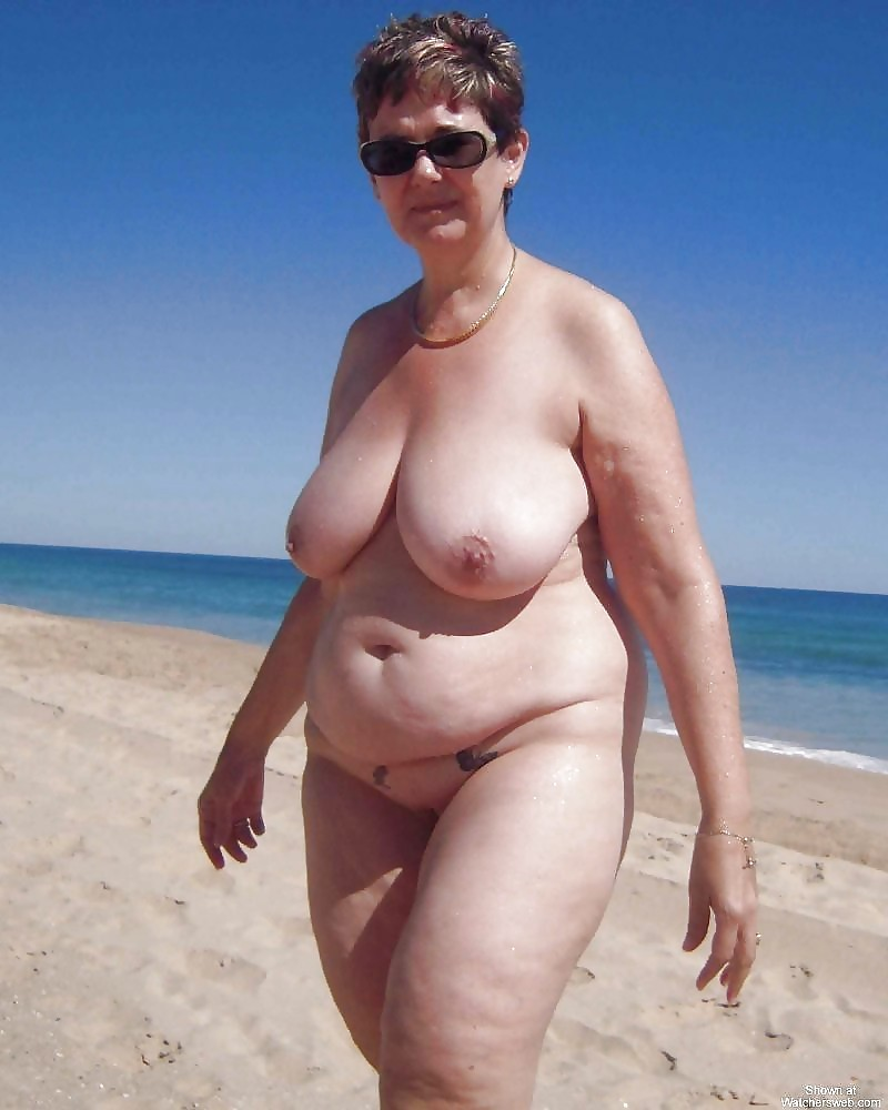 Naked outdoor grannies