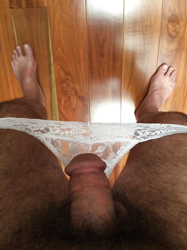 Girl trying panties