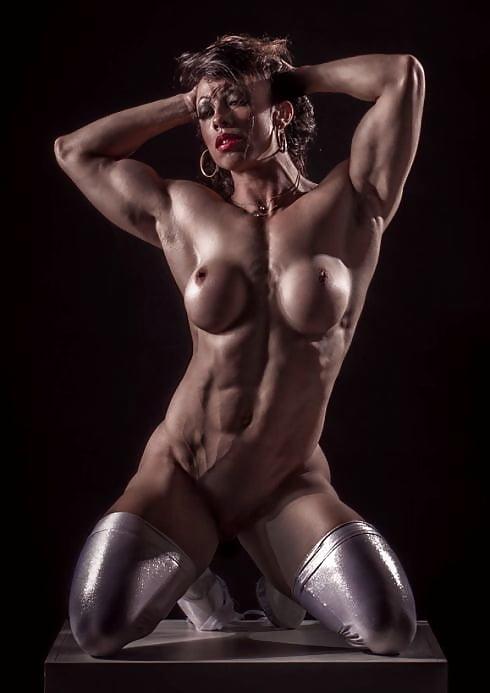 Various Muscular Women Posing Naked