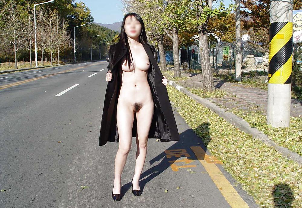 Naked korean in public