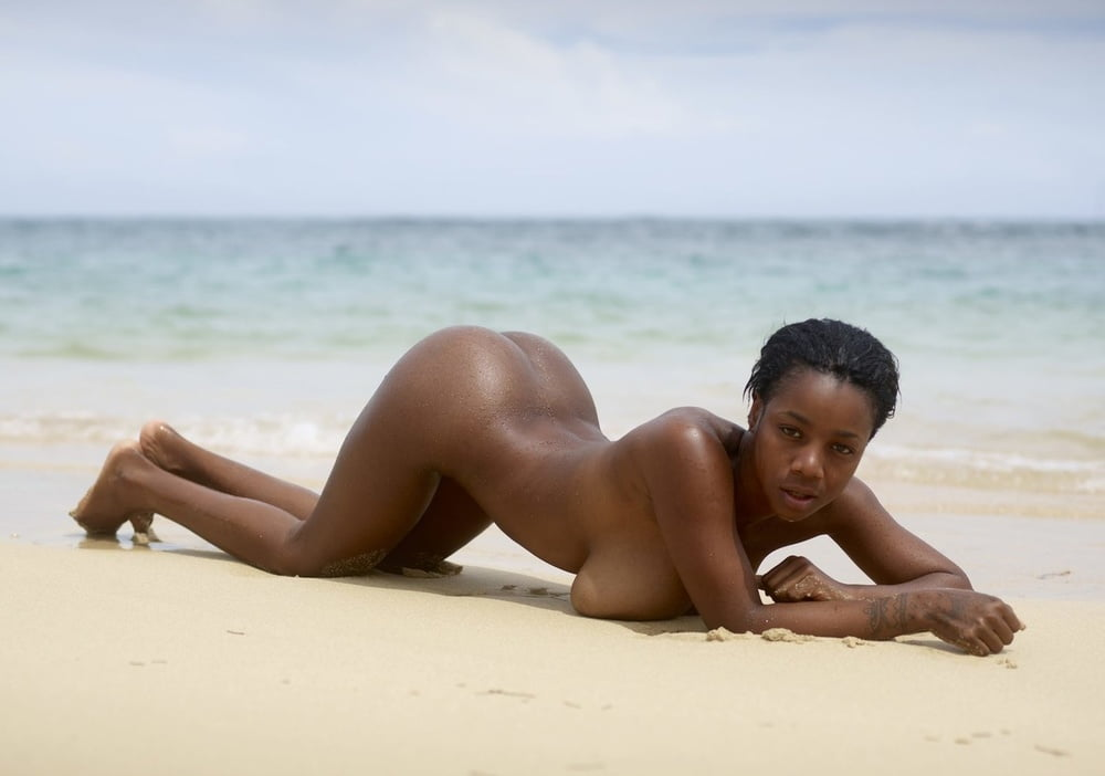 Ebony women naked on the beach