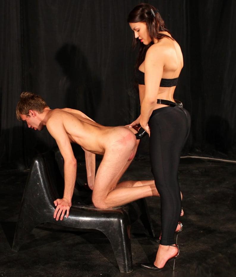 Hot euro femdom babes pegging weak dude-3548