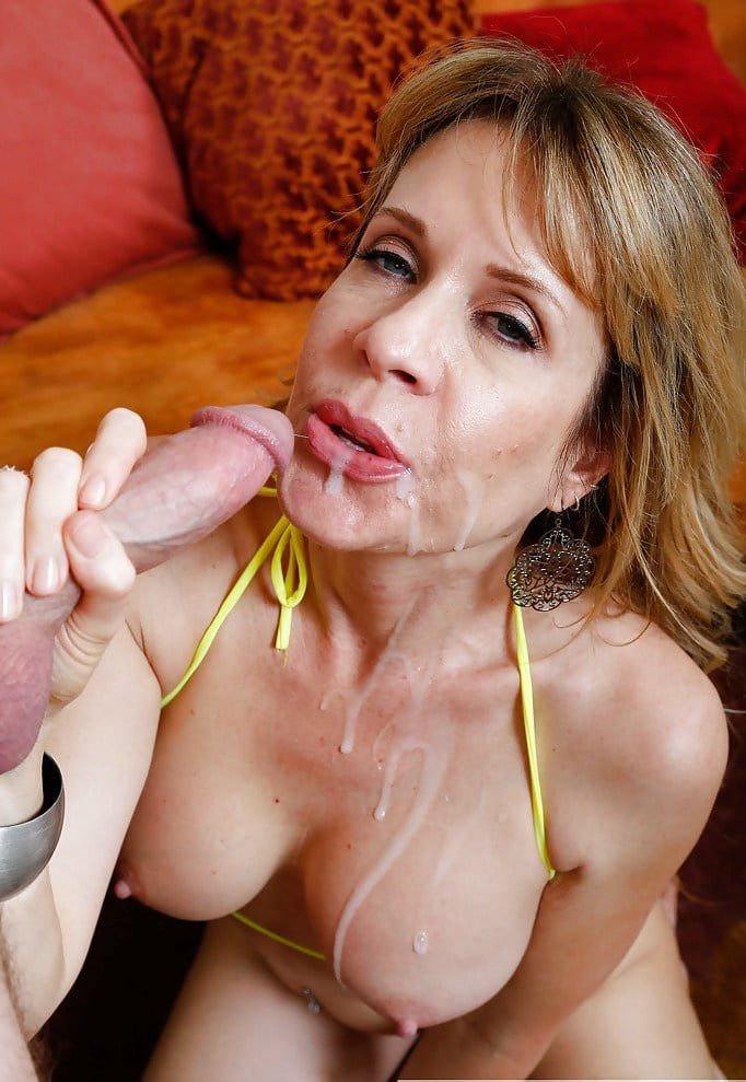 Mature wife drenched in cum creation