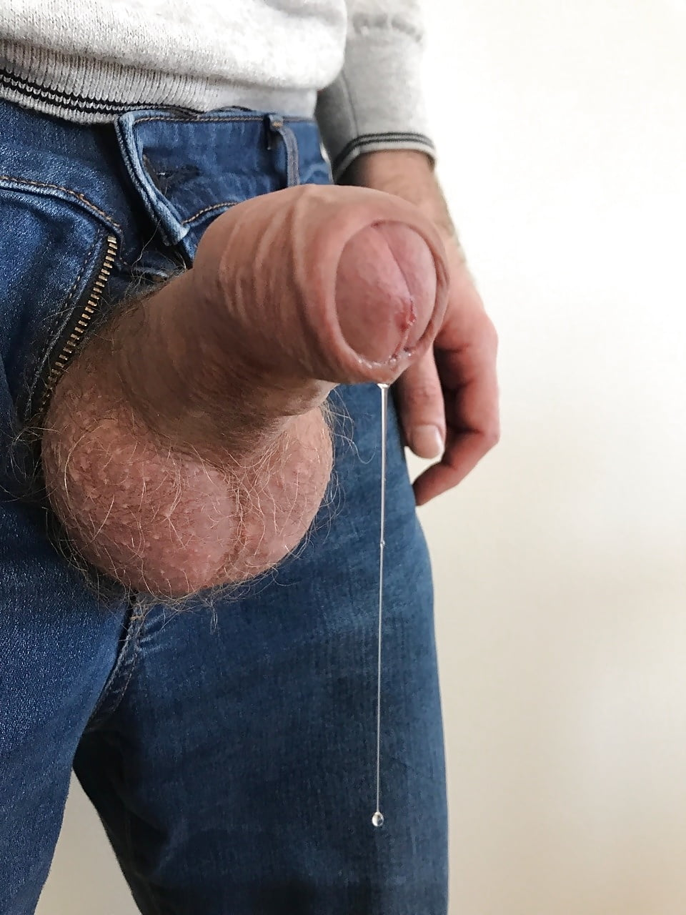Penis out of zipper