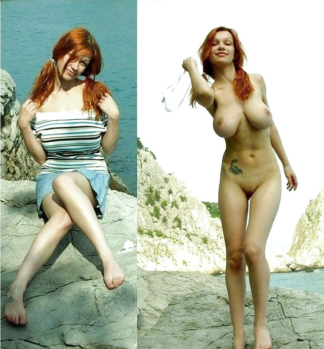 Redhead clothed then naked — img 2