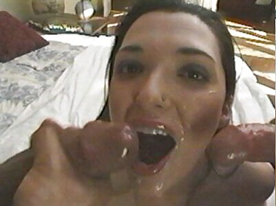 Horny wife fucked hard by two guys-3307