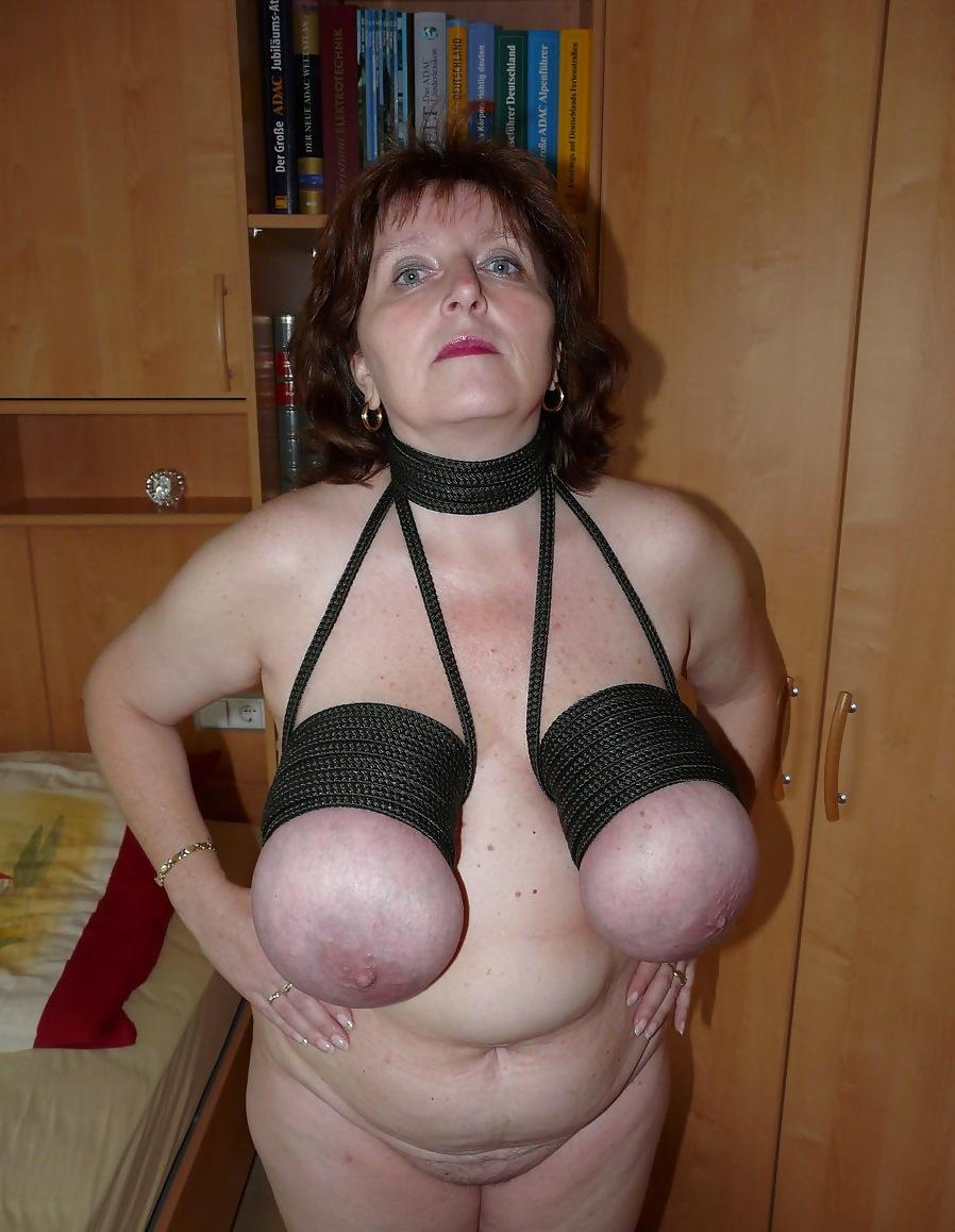 Fat tits bondage
