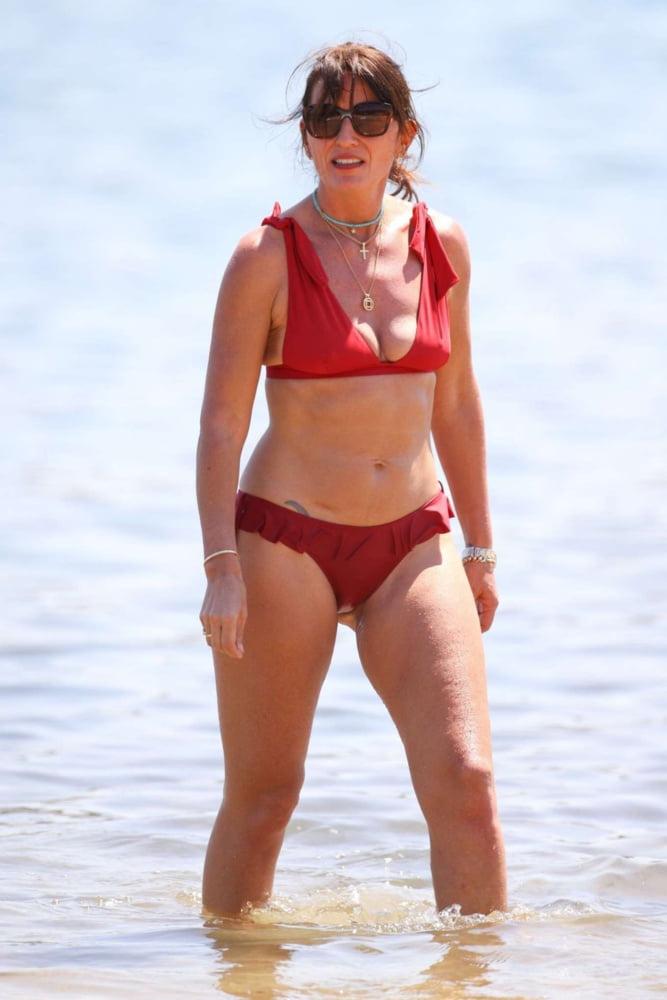 Granny jewel red bikini