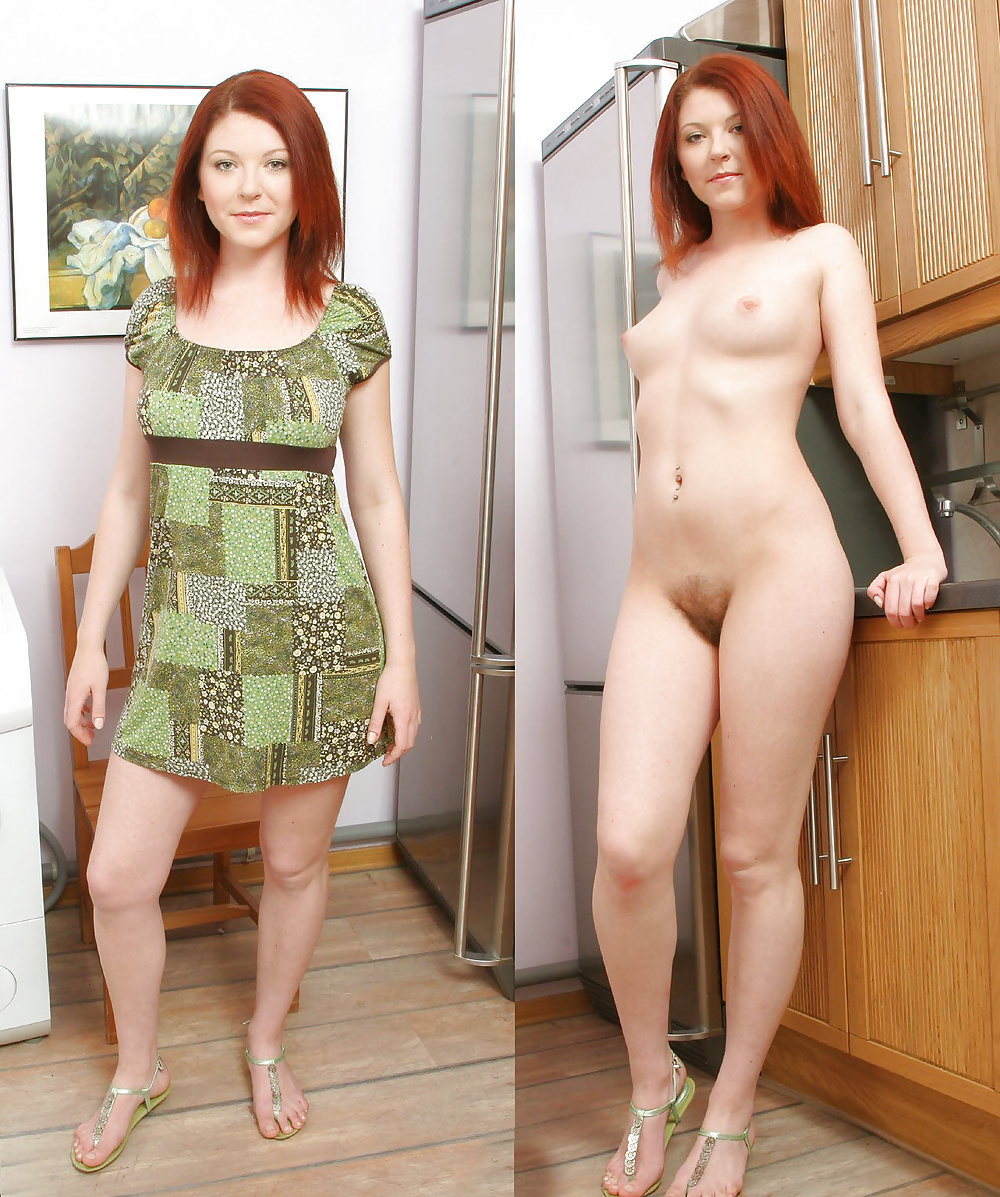 Nude woman kinky clothes 7
