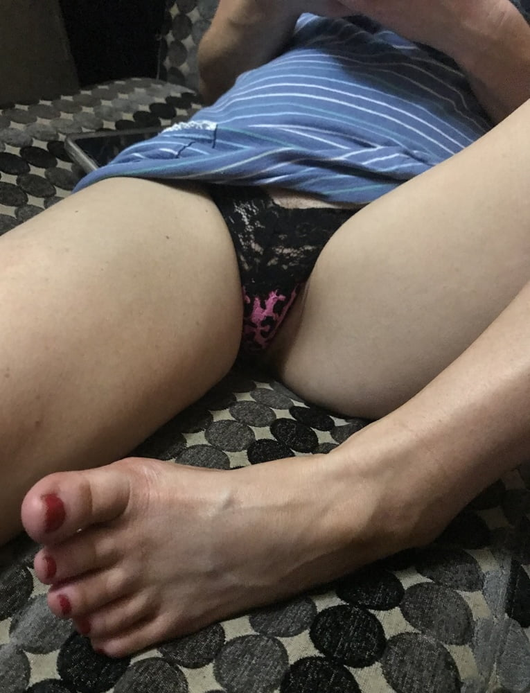 Sexy Panties Open Pink Pussy American Milf 10