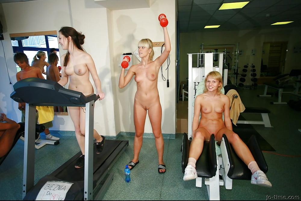 Nude girls gym shower