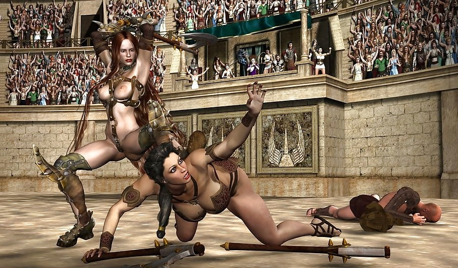 Fucking female gladiator, wife naked with husbands friends