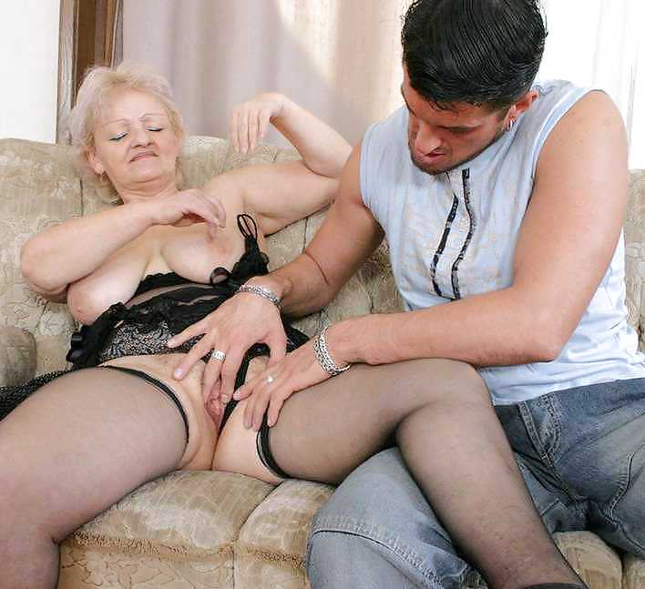 Granny and black boy porn