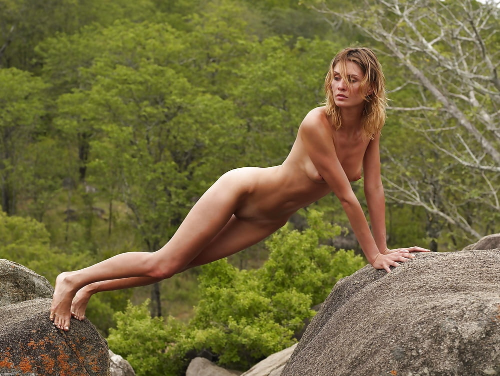 Nude mountain climbing