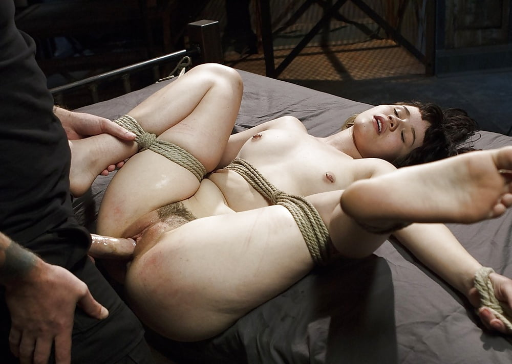 Ariella being tape gagged and bound